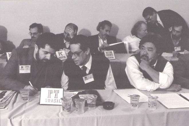 Imagem do Foro de São Paulo, em 1990 | Foro de São Paulo/Reprodução