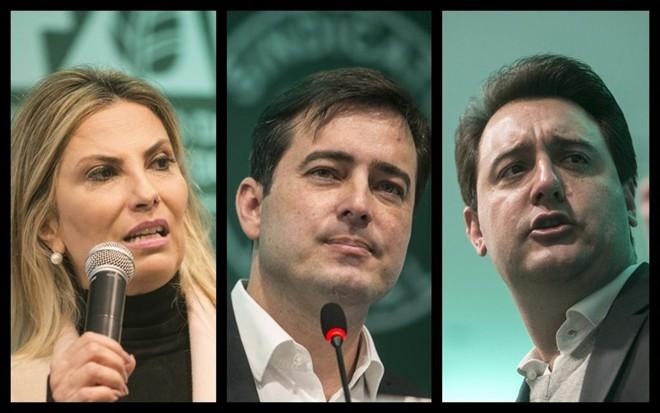 Cida Borghetti, João Arruda e Ratinho Júnior participaram de evento voltado ao agronegócio em Curitiba. | Marcelo Andrade/Gazeta do Povo