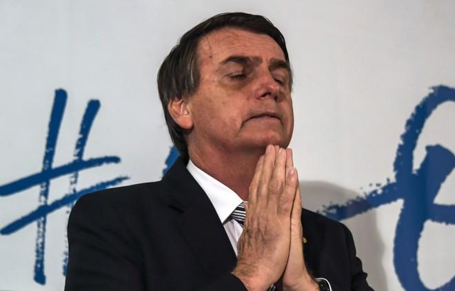 Bolsonaro (PSL) terá apenas 9 segundos pedir votos em cada bloco do horário eleitoral fixo. | Apu Gomes/AFP