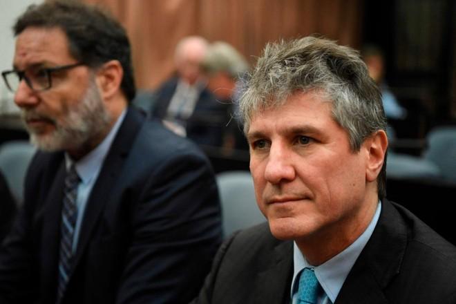 Amado Boudou aguarda sentença judicial em tribunal de Buenos Aires   EITAN ABRAMOVICH/AFP