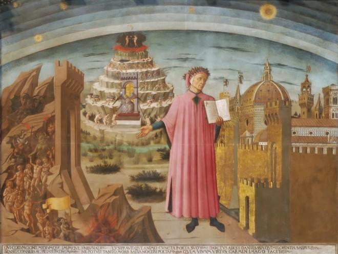 Dante e a Divina Comédia de Domenico di Michelino | /Reprodução
