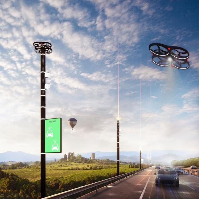 Ouso de drones para fiscalizar rodovias será implantada na Itália e pode  servir de exemplo para novos modelos de concessão. | A project by Carlo Ratti Associati for Anas