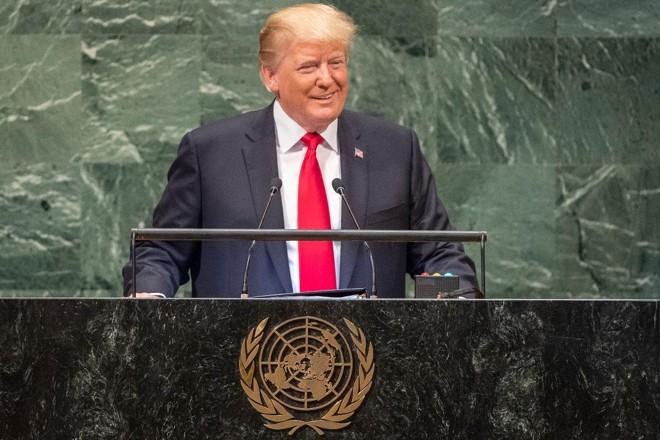 Presidente dos EUA, Donald Trump, discursa durante sessão da Assembleia Geral da ONU | Cia Pak/UN Photo