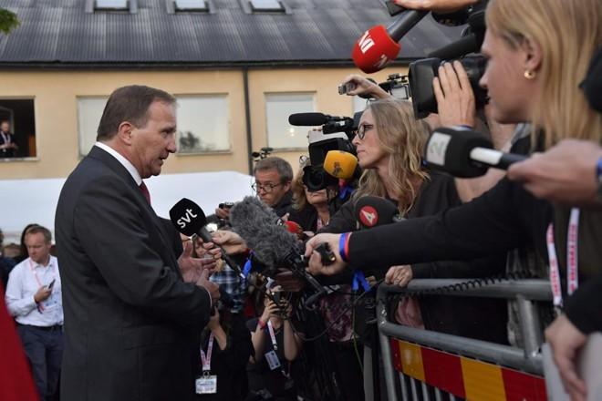O primeiro-ministro Stefan Löfven deverá ter dificuldade para formar novo governo após as eleições deste domingo (9). | JOnas Ekstromer/AFP