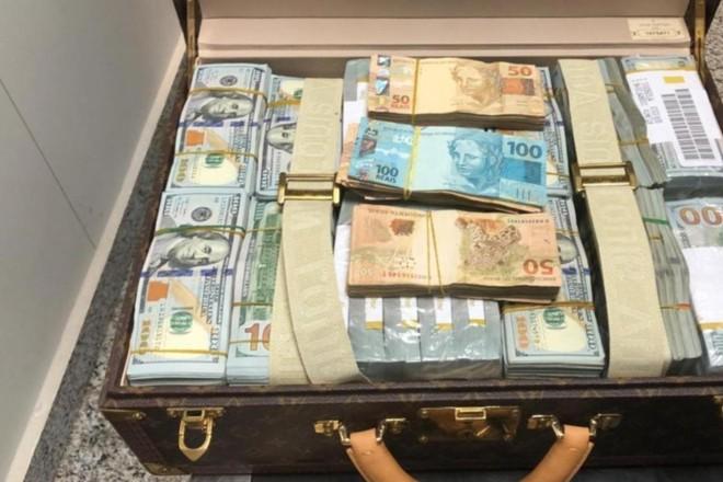 Filho do ditador da Guiné Equatorial levava cerca de US$ 1,5 milhão em espécie | Divulgação/Polícia Federal