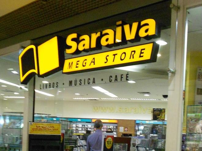 Fachada de uma loja da Livraria Saraiva. | Eduardo P/Wikimedia Commons