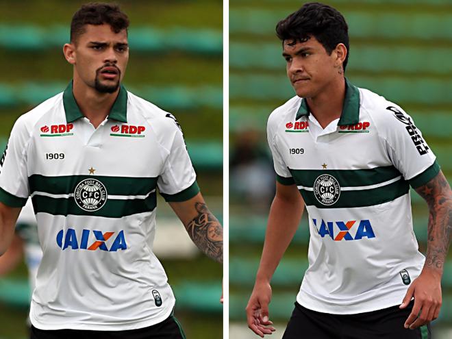 Pablo Thomaz e Matheus Bueno, da base doCoritiba. | Albari Rosa/Gazeta do Povo