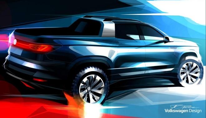 Esboço divulgado pela Volkswagen mostra as lanternas com o mesmo desenho visto no T-Cross. | Volkswagen / Divulgação