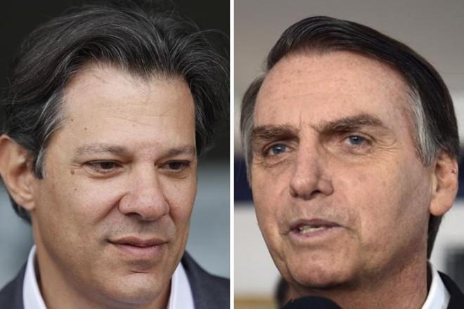 Os concorrentes do segundo turno em 2018 | Jonathan Campos/Gazeta do Povo e Tânia Rêgo/Agência Brasil /