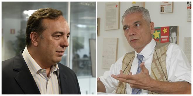 Fernando Francischini e Angelo Vanhoni trabalharam ativamente na campanha de Bolsonaro e Haddad no Paraná. | Reprodução/Gazeta do Povo