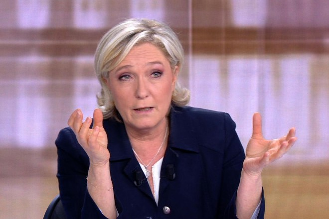 A líder da extrema-direita na França, Marine Le Pen   STRINGER/AFP