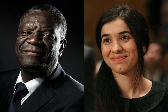 Denis Mukwege e Nadia Murad foram os vencedores do prêmio Nobel da Paz 2018 | JOEL SAGET/AFP