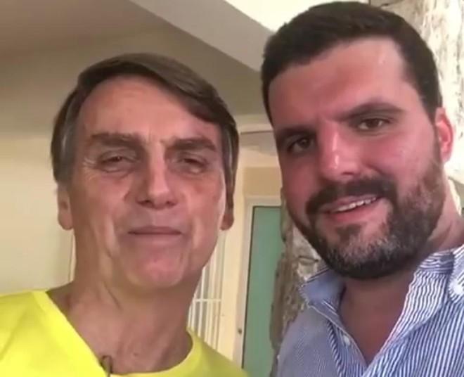 Bolsonaro e Pedro Lupion. Foto: Reprodução do Facebook. | Reprodução do Facebook