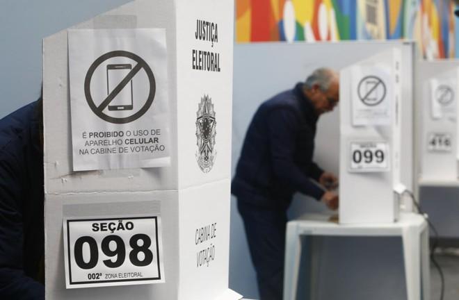 Cabina de votação em Curitiba. | Aniele Nascimento/Gazeta do Povo
