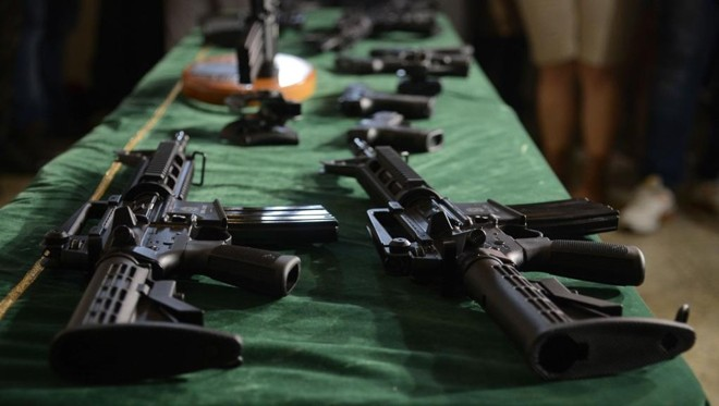 Armas da Taurus doada ao Exército neste ano. | Tomaz Silva/Agência Brasil/