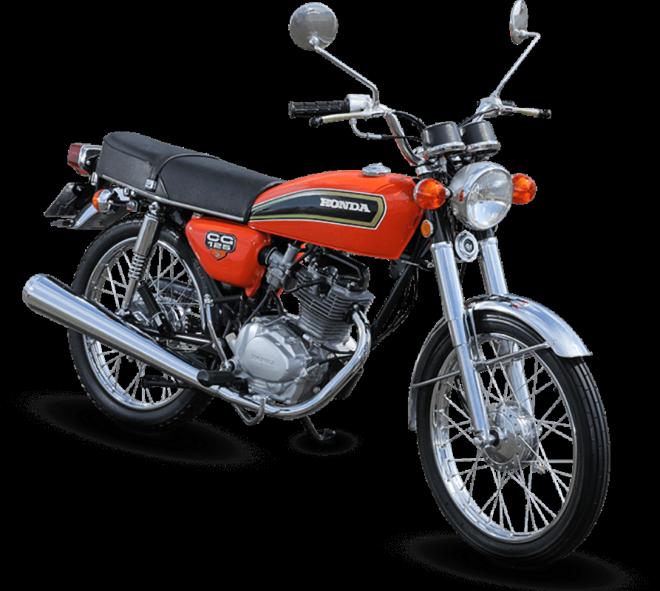 115e71471 O modelo de 1976 ficou conhecido como  CG bolinha  e foi a primeira moto  Honda produzida no Brasil. Equipada com um câmbio rotativo