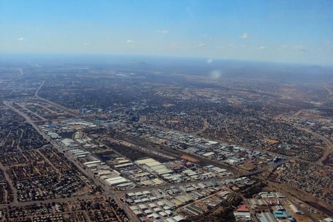 Vista aérea de Gaborone, capital da Botsuana | Wikipedia