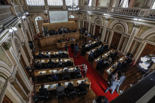 Sessão desta terça foi tranquila, sem protestos do lado de fora do plenário | Jonathan Campos/Gazeta do Povo