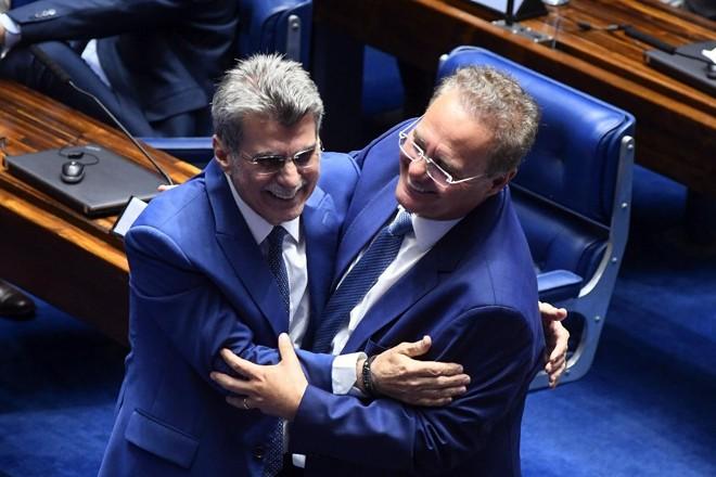 Ex-presidente da Casa, Renan Calheiros (MDB-AL) sai na frente e é visto por muitos como predileto na disputa para a presidência do Senado | Marcos Oliveira/ Agência Senado