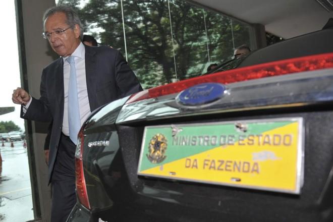 O economista Paulo Guedes comanda nesta tarde a primeira reunião temática do grupo de economia na transição.   Marcello Casal jr/Agência Brasil