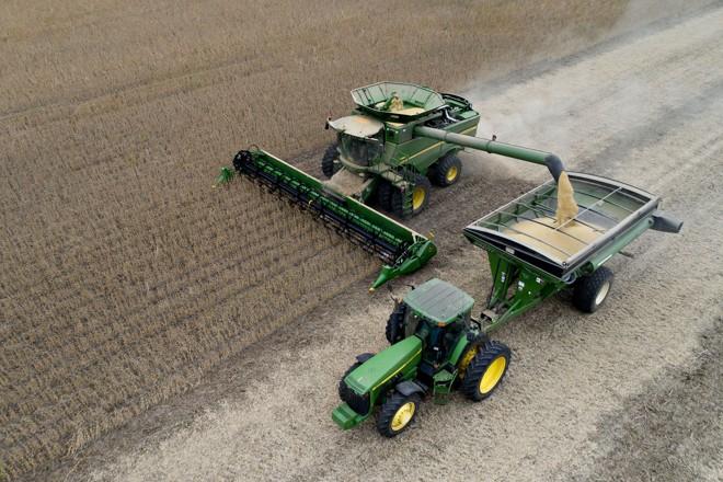 Colheita de soja no meio oeste americano | Daniel Acker/Bloomberg