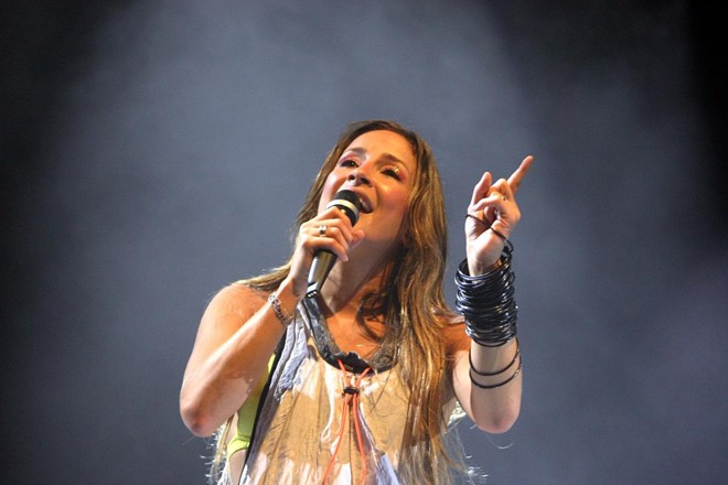 A cantora baiana Claudia Leitte | GIULIANO GOMES/Gazeta do Povo