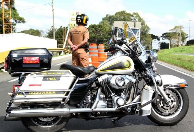 Modelo de moto da Harley Davidson usada pela polícia rodoviária do Paraná. | Soldado Cristiano Godoi de Andrade/PMPR/AEN