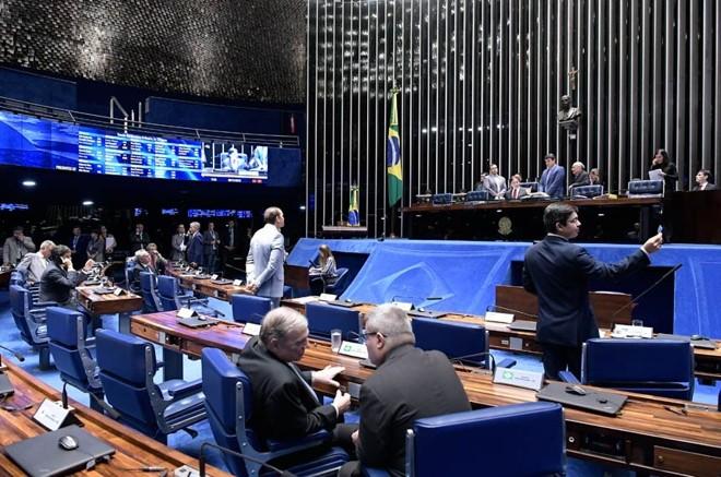 Líderes partidários chegaram a reunir assinaturas suficientes para retirar a urgência do projeto. | Waldemir Barreto/Agência Senado