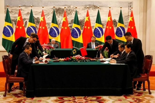 O presidente Michel Temer visitou a China no ano passado: relações do Brasil com o país asiático após vitoria de jair Bolsonaro são uma incógnita. | Beto Barata/PR