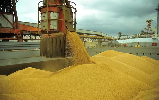 Embarque de soja no  Porto de Paranaguá. | Ivan Bueno/APPA