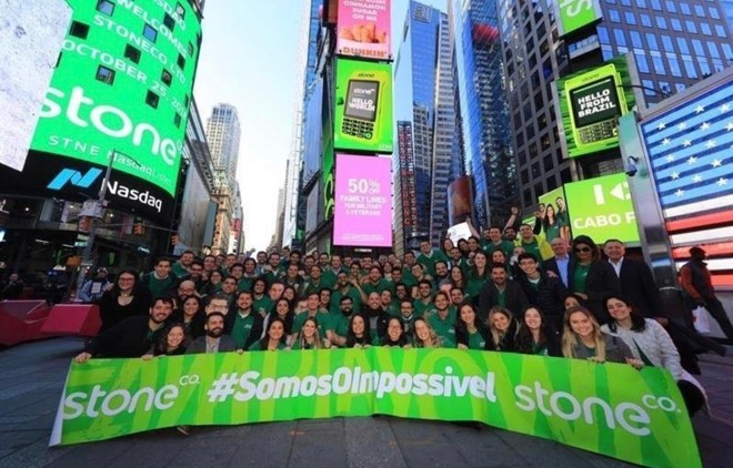 Stone abriu capital na Bolsa Nasdaq, em Nova York | Divulgação/Stone