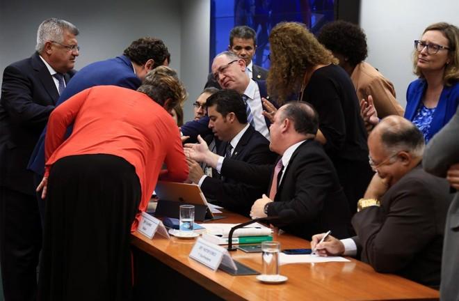 Deputados contrários ao projeto Escola sem Partido chegaram a obstruir fisicamente a continuação dos trabalhos em comissão especial criada para analisar o tema | Alex Ferreira/Câmara dos Deputados