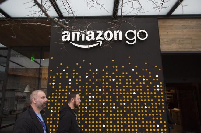 Uma das lojas Amazon Go em Seattle, nos EUA. | Mike Kane/Bloomberg