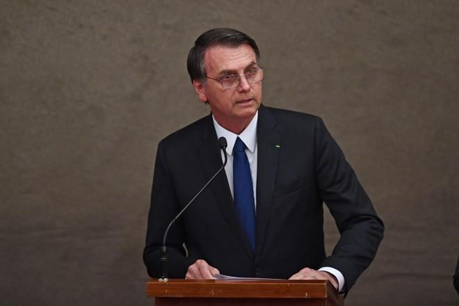 No discurso de agradecimento, o presidente eleito Jair Bolsonaro falou de forma conciliatória, pedindo o apoio de todos os brasileiros. | Evaristo Sa/AFP