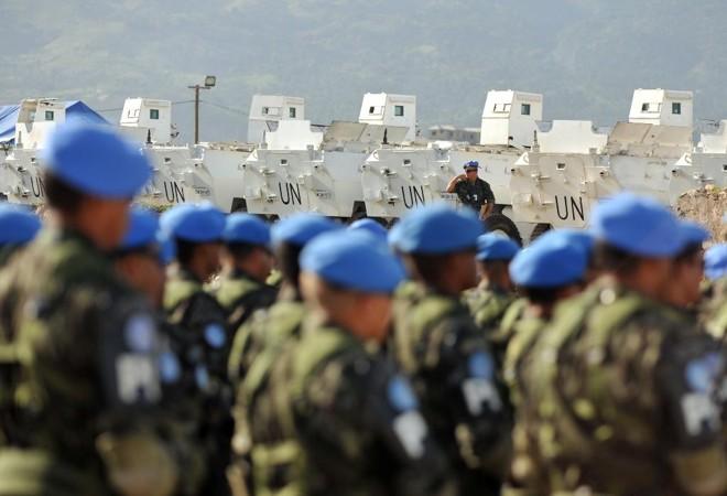 Tropa de boinas azuis da missão de paz da ONU no Haiti, comandada pelo  Brasil: seis integrantes para o governo Bolsonaro.   Marcello Casal Júnior/Agência Brasil