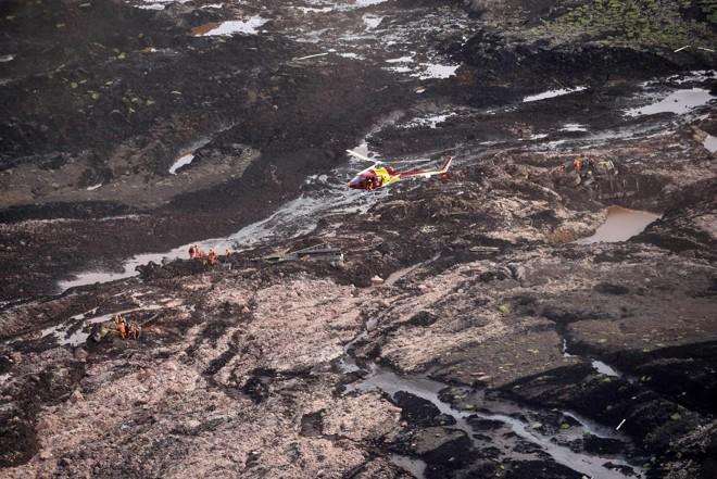 Segundo a Vale, o volume total de resíduos vazados em Brumadinho seria de 12 milhões de metros cúbicos, cerca de um terço do volume do rompimento ocorrido em Mariana (MG), em 2015. | Douglas Magno/AFP