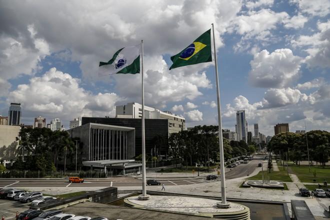 O Centro Cívico, em Curitiba, onde estão os centros do poder político no Paraná | André Rodrigues/Gazeta do Povo