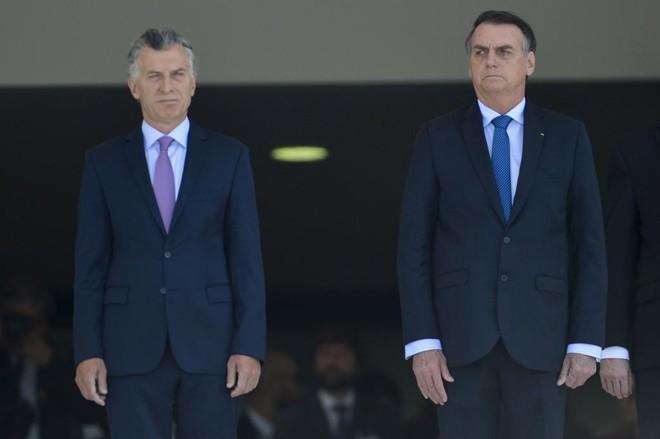 Mauricio Macri, presidente da Argentina, visitou Jair Bolsonaro nesta quarta-feira (16) e tratou de vários assuntos de interesse dos dois países. | Marcelo Camargo/Agência Brasil
