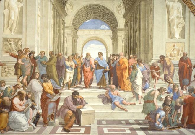 Escola de Atenas, de Rafael Sanzio | Reprodução/