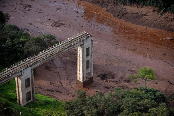 Contaminação do Rio São Francisco é uma provável consequência do desastre de Brumadinho. | Douglas Magno/AFP