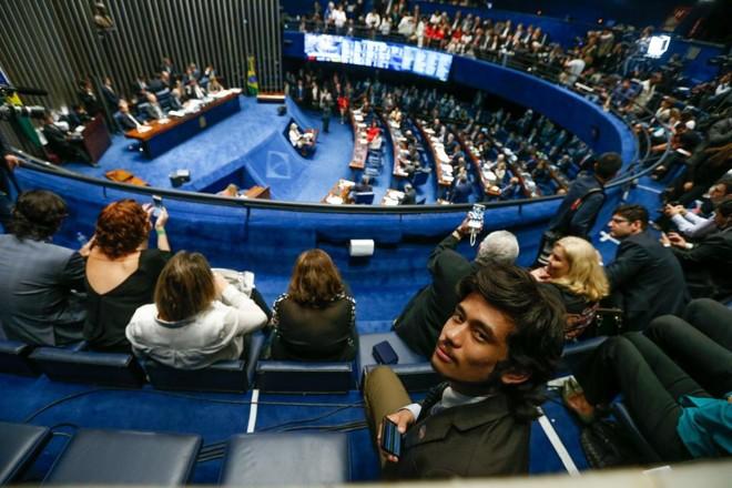 Deputado federal eleito Kim Kataguiri (DEM-SP). | Pedro Ladeira/Folhapress