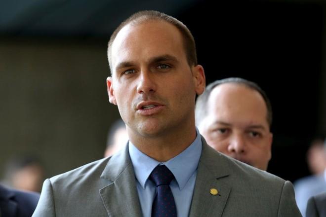 O deputado federal Eduardo Bolsonaro (PSL-SP)   Wilson Dias/Agência Brasil