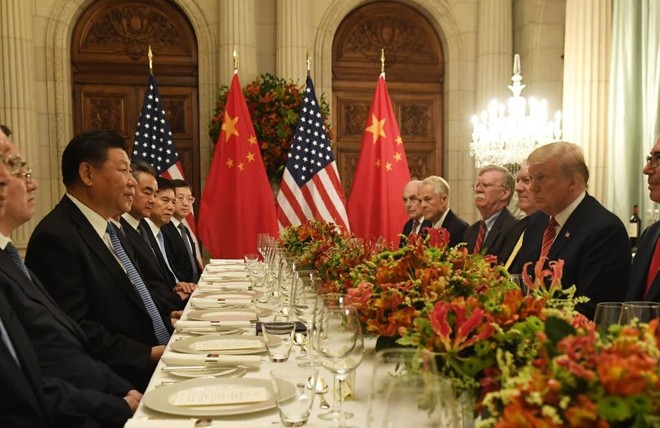 Xi Jinping e Trump: jantar após o G20 | SAUL LOEB/AFP