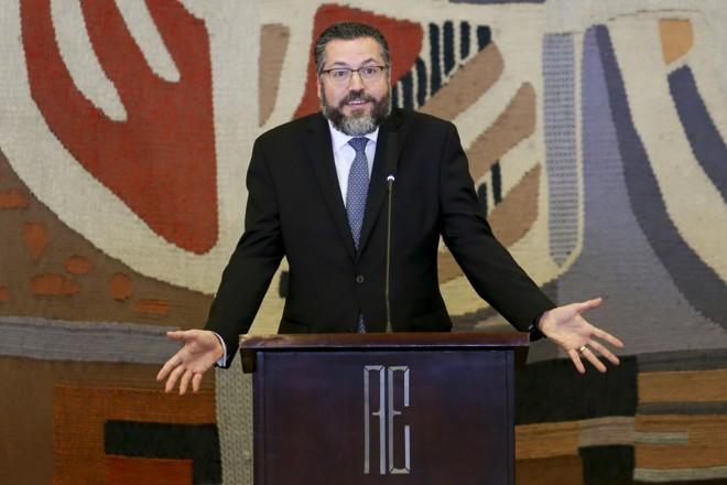 Chanceler Enersto Araújo: ele afirmou que demitiu o presidente da Apex | Fabio Rodrigues Pozzebom/Agência Brasil