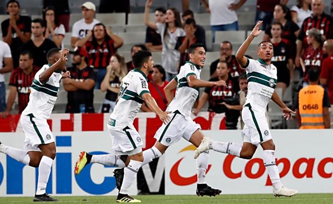 Igor Jesus comemora o primeiro gol doCoritiba. | Albari Rosa/Gazeta do Povo