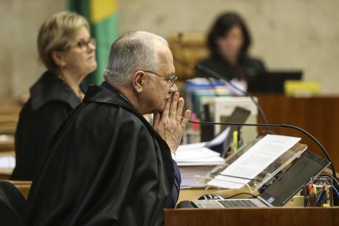 Ministros Fachin e Rosa Weber durante julgamento sobre a contribuição sindica, em junho de 2018. | Valter Campanato/ Agencia Brasil