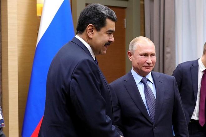 Nicolás Maduro e Vladimir Putin em encontro bilateral na Rússia, em 2018 | Distribuição/Assessoria de Imprensa/Presidência da Rússia