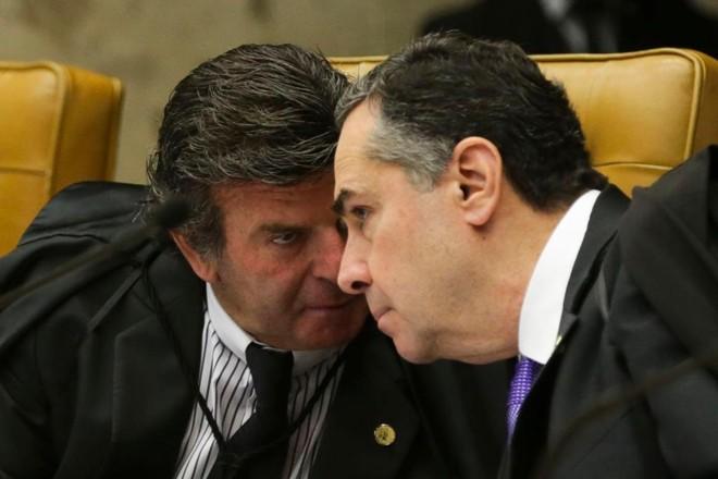 Os ministros do STF Luis Fux e Luís Roberto Barroso: ativismo judicial | Antonio Cruz/Agência Brasil