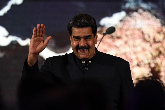 O ditador venezuelano Nicolás Maduro durante apresentação em Caracas, 11 de fevereiro | FEDERICO PARRA /AFP