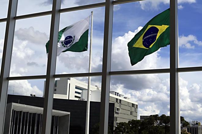 Detalhe da fachada do Palácio Iguaçu, sede do governo estadual. | Albari Rosa/Gazeta do Povo
